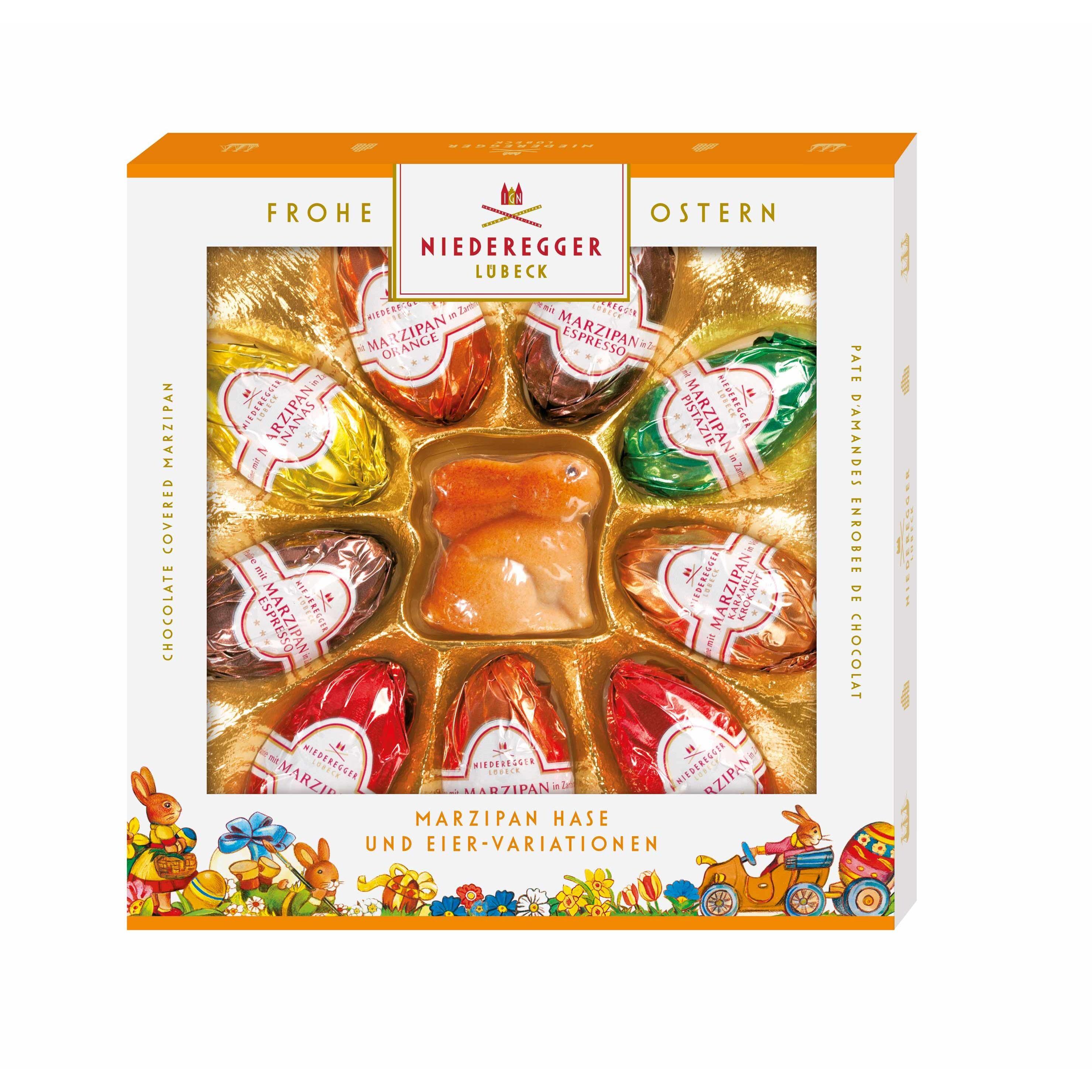 Niederegger Marzipan Hase und Eier-Variationen 9 Stück, 175g