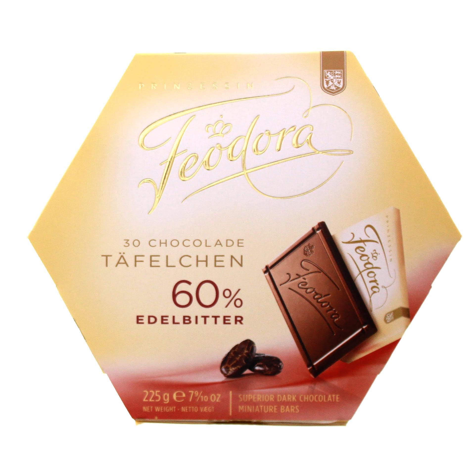 Feodora - Chocolade Täfelchen Edelbitter 60% - 30St/225g