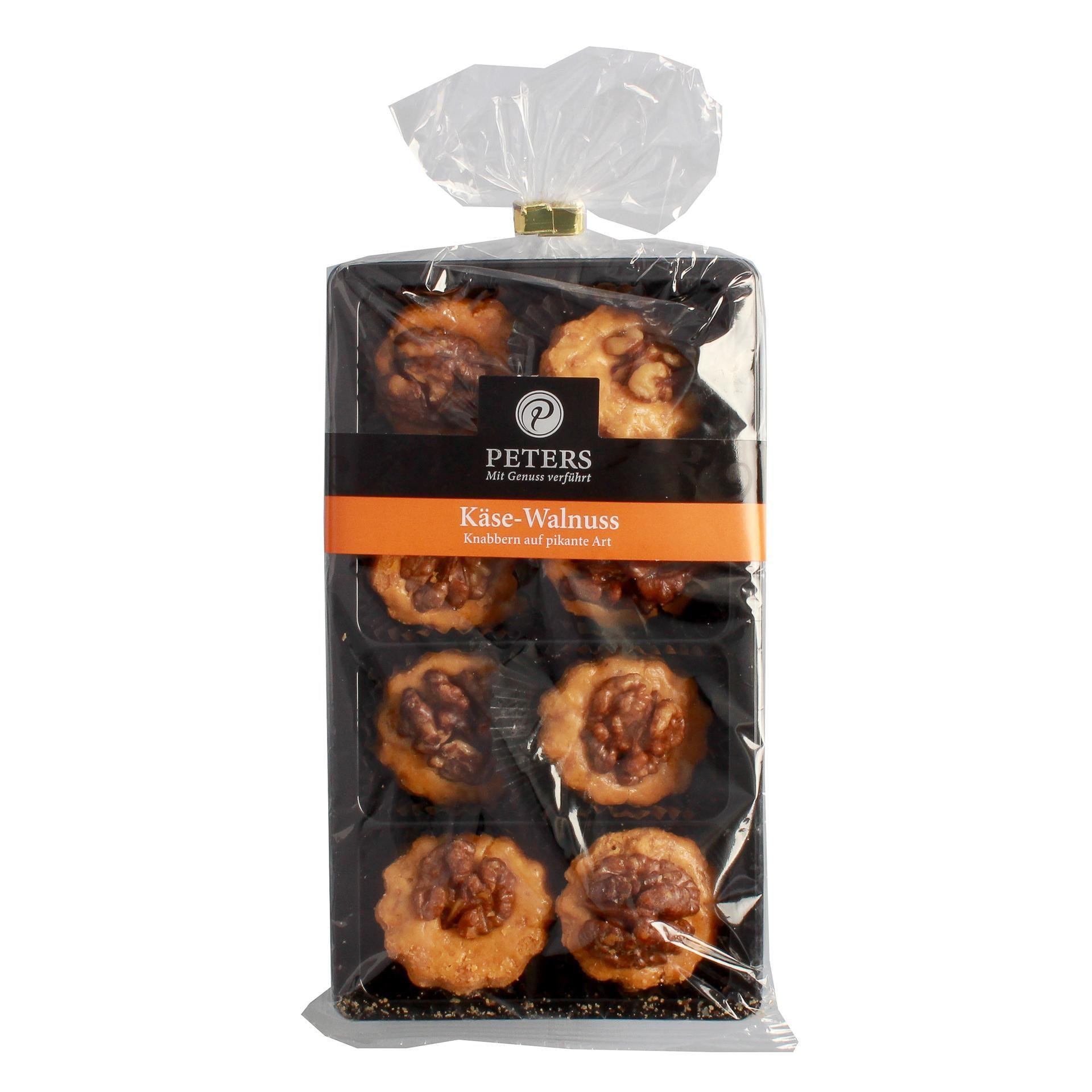Peters - Käse-Walnuss Häppchen Snack Knabberkram Cracker Kräcker - 100g