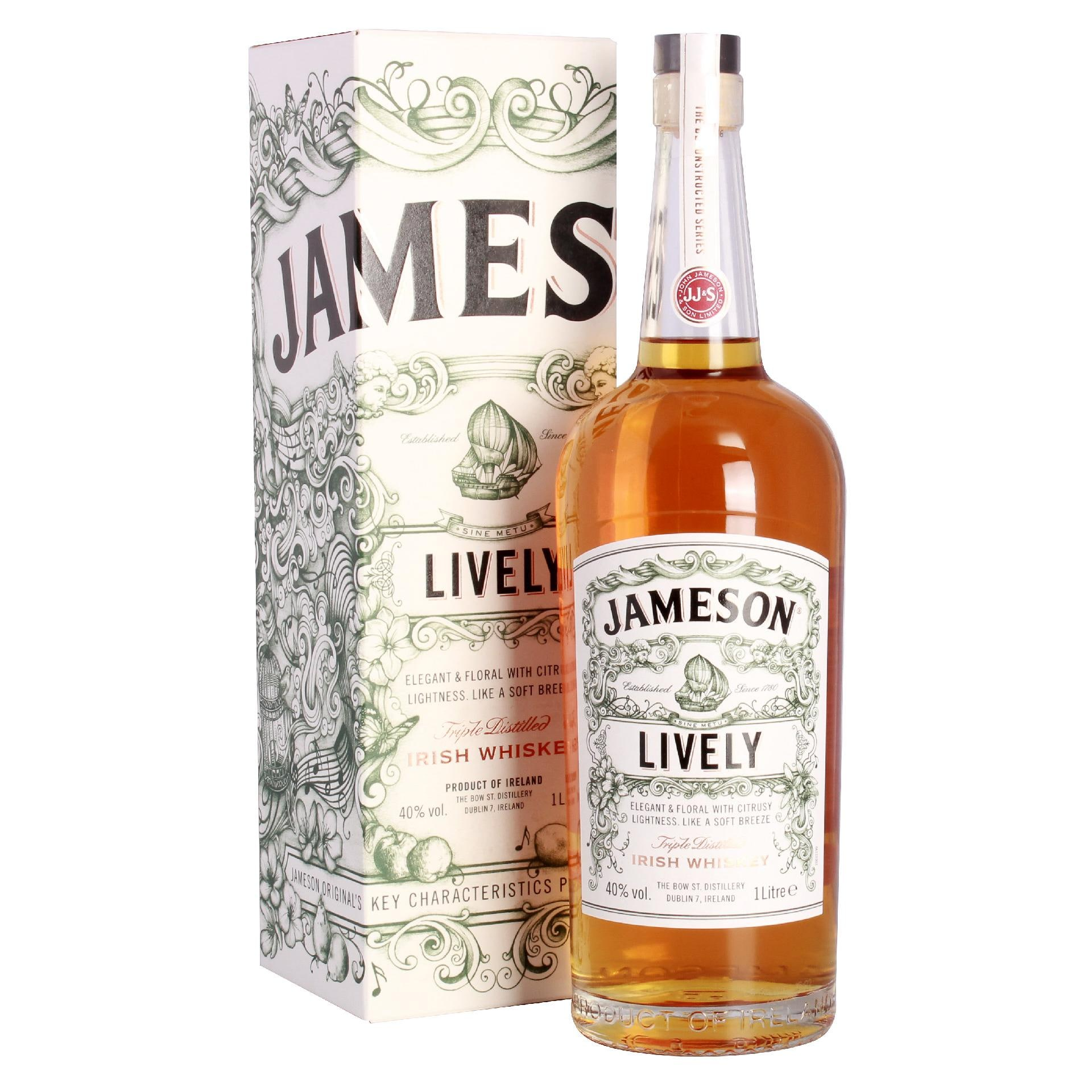 Jameson Lively Triple Distilled Irish Blended Whiskey 1l