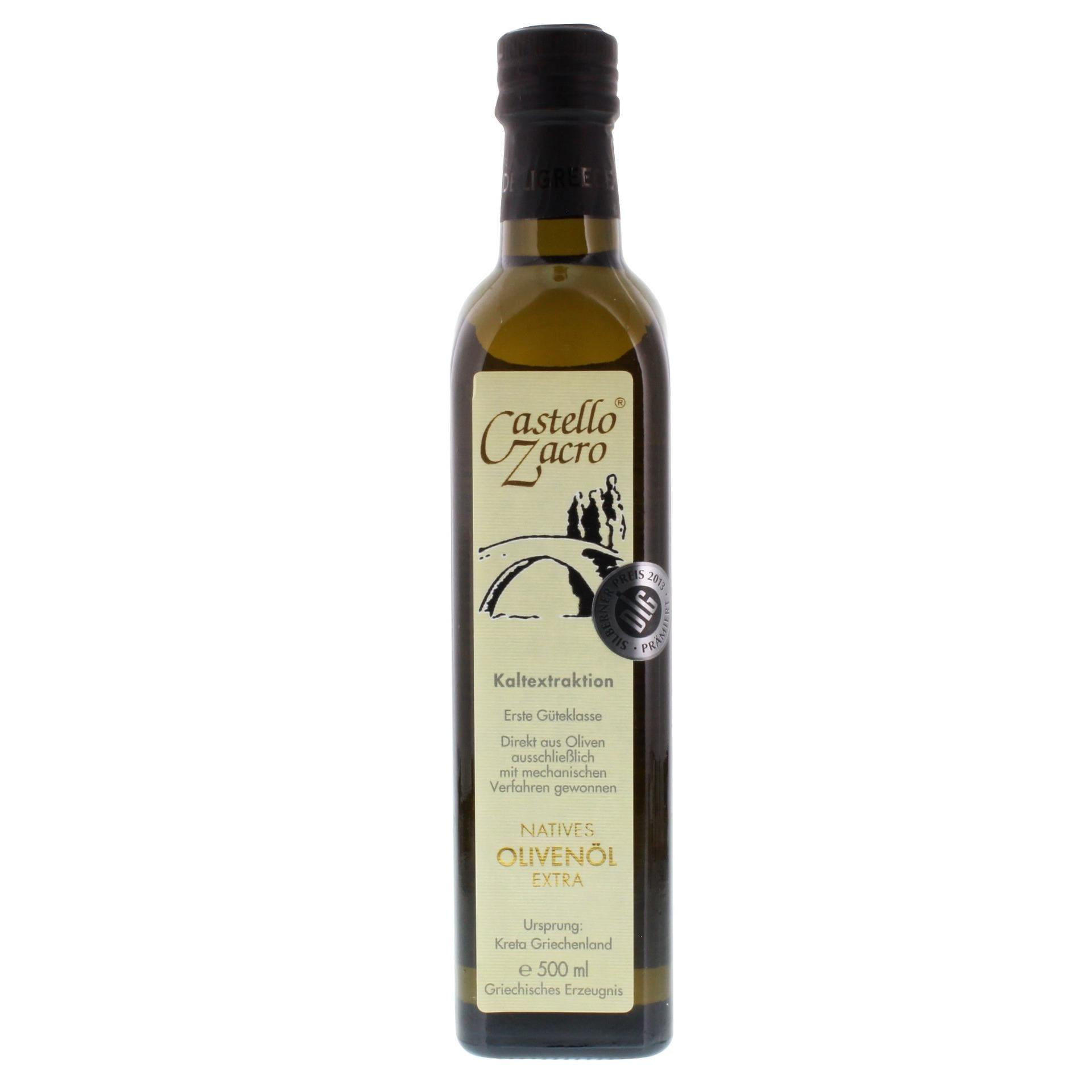 Castello Zacro - Natives Olivenöl Extra Kaltextraktion Erste Güteklasse - 500ml
