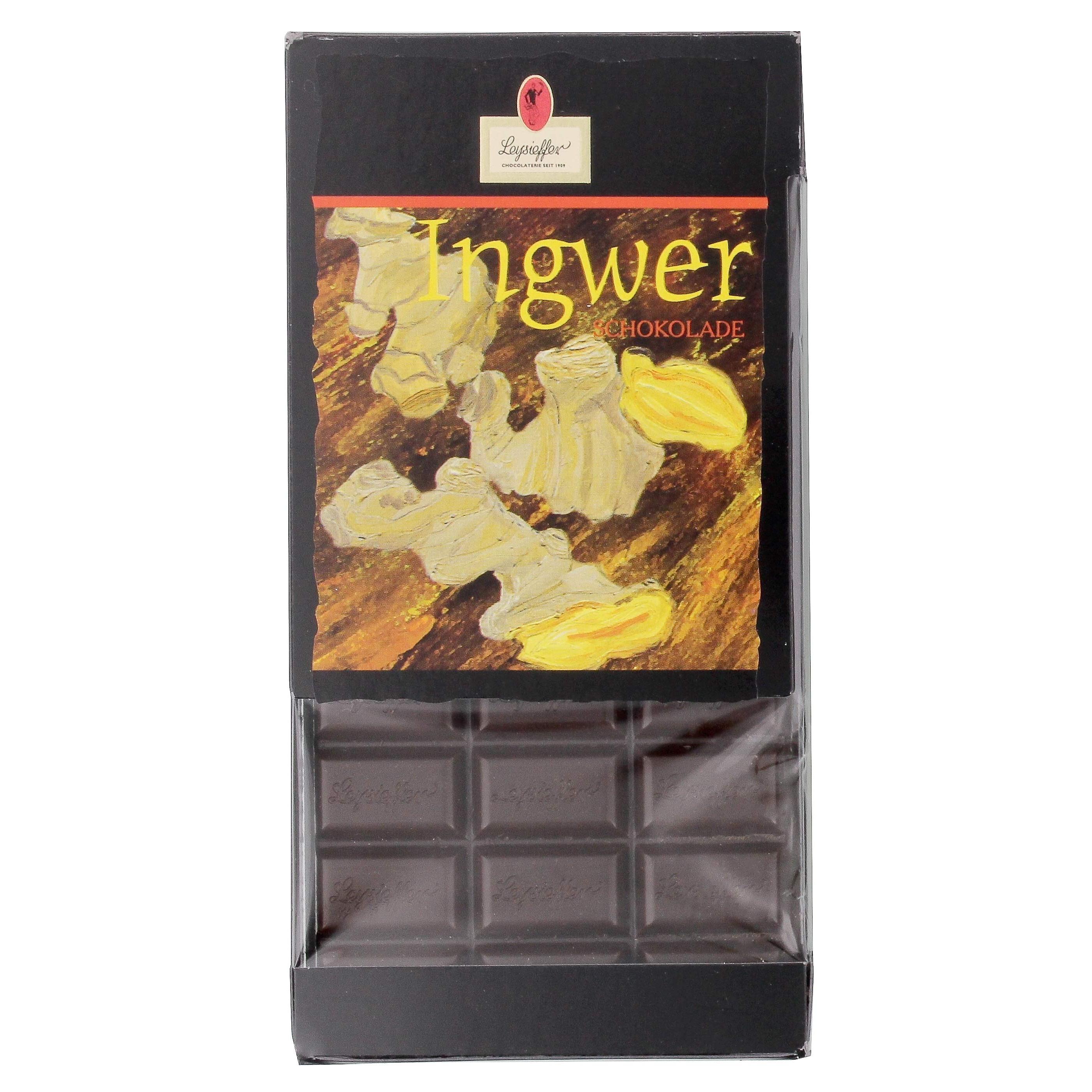 Leysieffer - Halbherbe Schokolade Ingwer - 100g