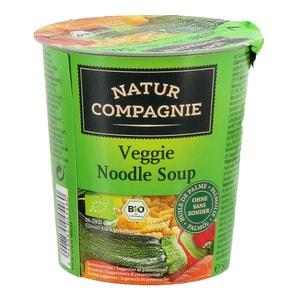 Natur Compagnie Bio Veggie Noodle Soup Fertigsuppe mit Gemüse und Nudeln 50g