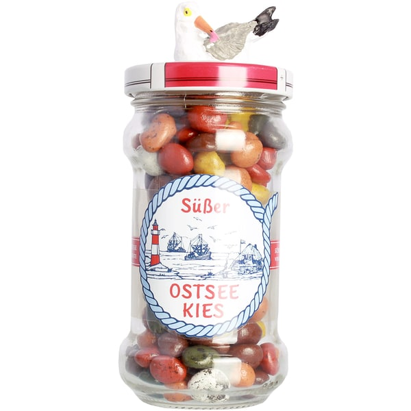L.W.C. Michelsen - Süsser Ostsee Kies Dragees Karamellbonbon gefüllt - 175g