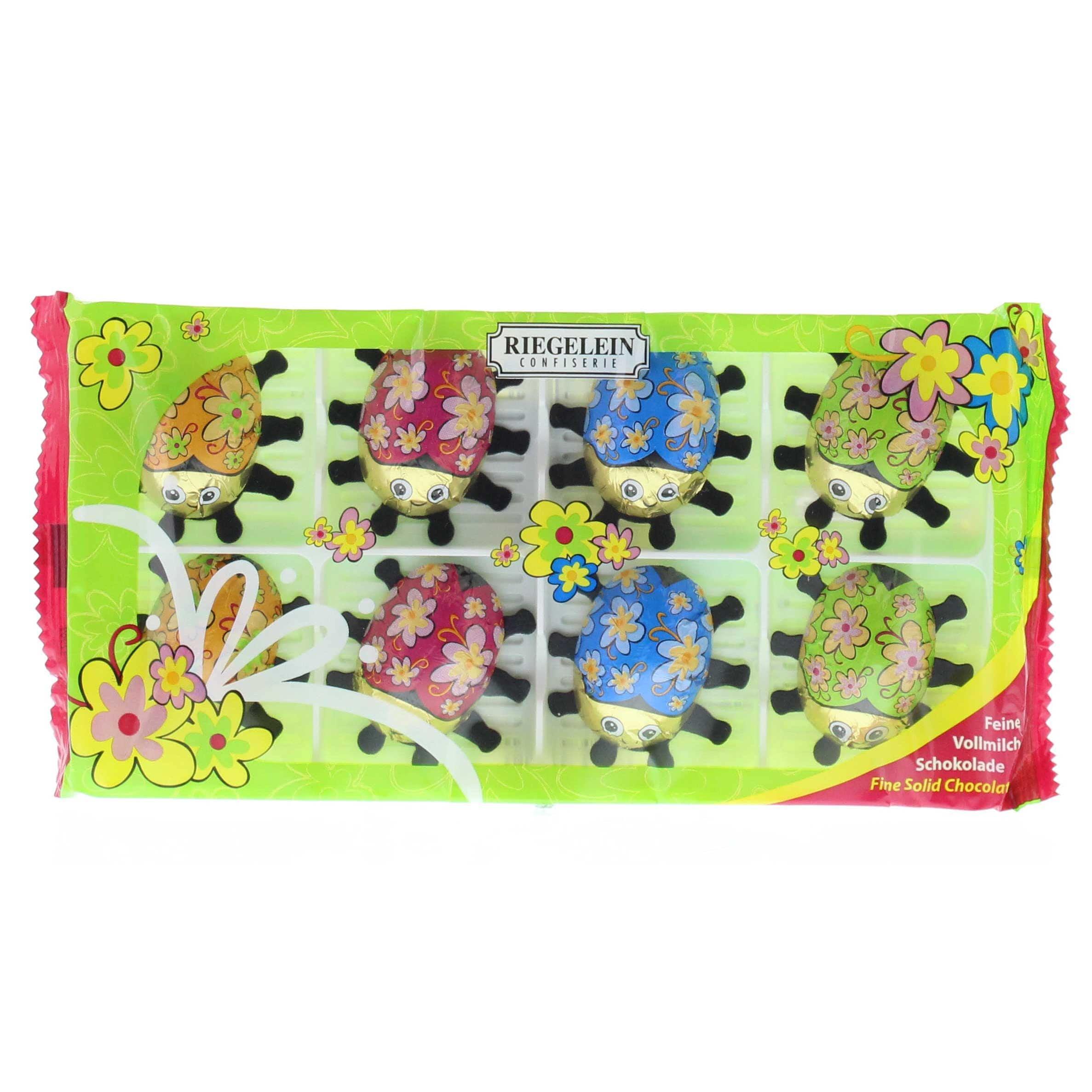 Riegelein Frühlings-Käfer Vollmilchschokolade 100g, 8 Stück