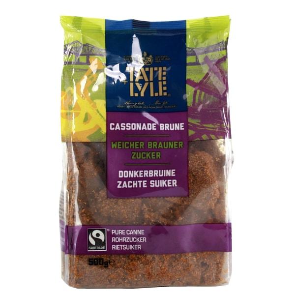 Tate & Lyle - brauner Rohrzucker mit Melasse Zucker Zuckerrohr Fairtrade fair - 500g