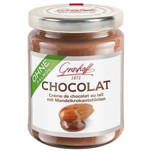Grashoff Chocolat mit Mandelkrokantstückchen Brotaufstrich 235g