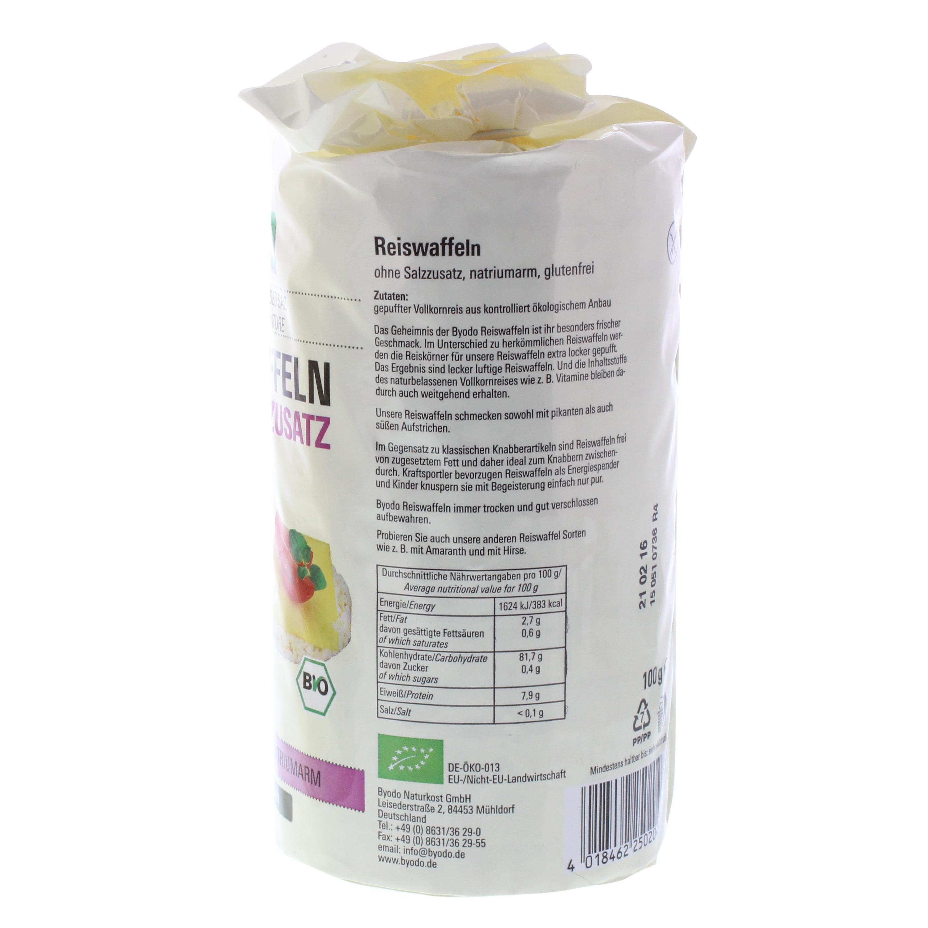 Byodo Bio Reiswaffeln ohne Salzzusatz 100g