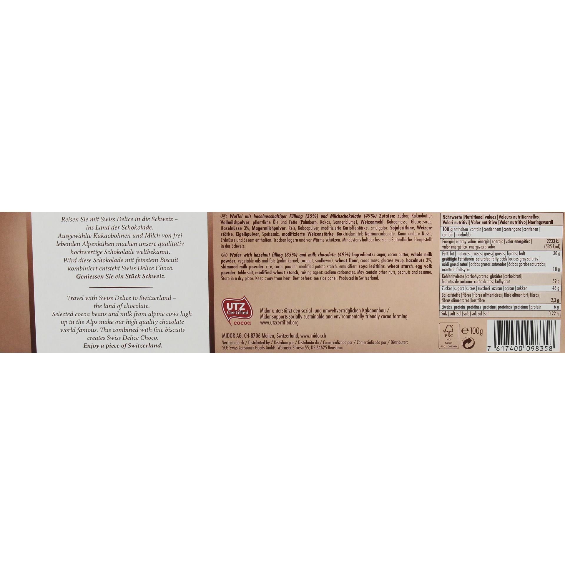 Swiss Delice - Truffino Classic Choco - Kekse - 100g