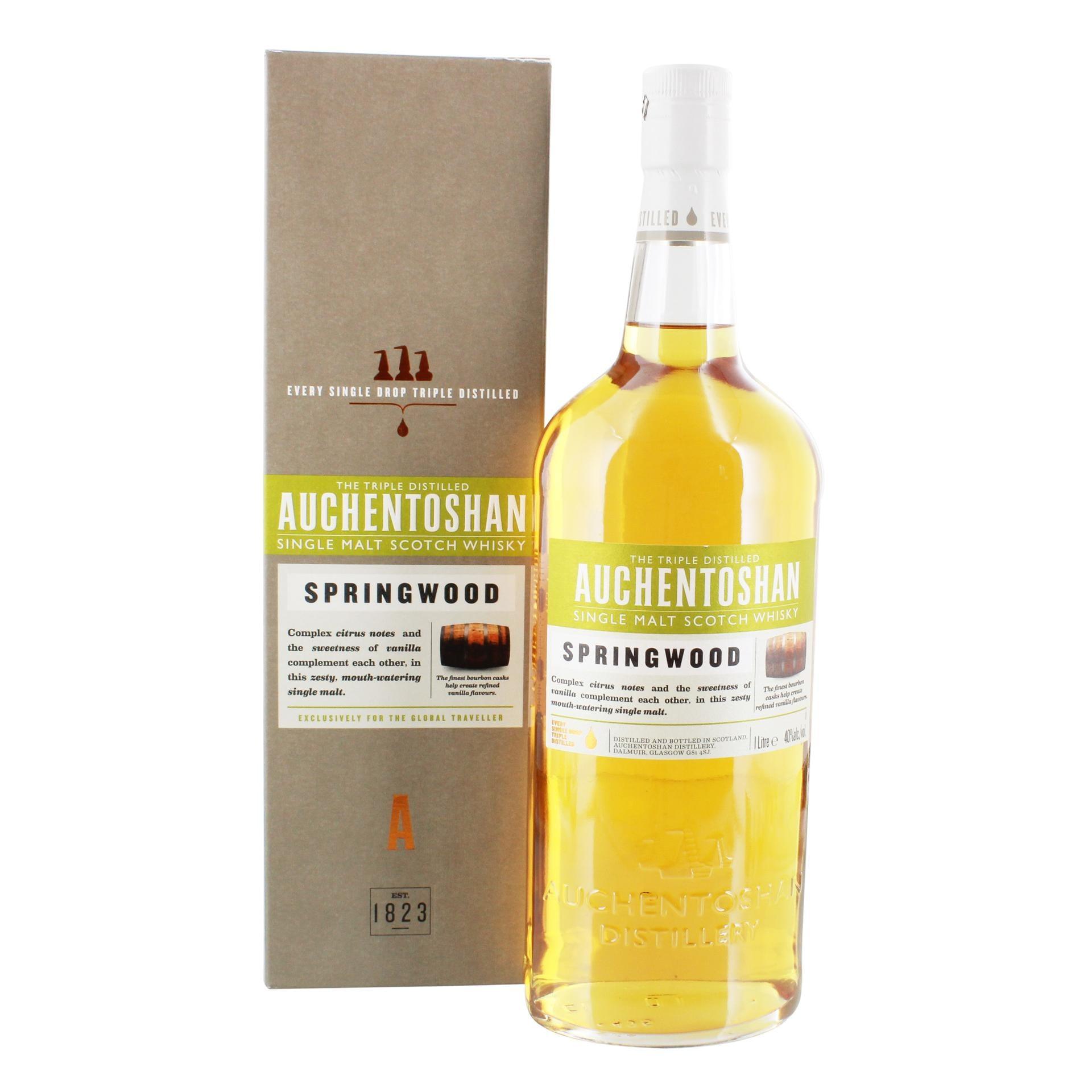 Auchentoshan Springwood Single Malt Scotch Whisky 1l