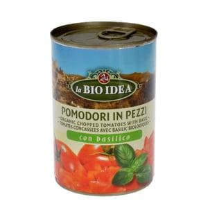 La Bio Idea Pomodori In Pezzi Con Basilico Tomatenstücke gehackt 400g