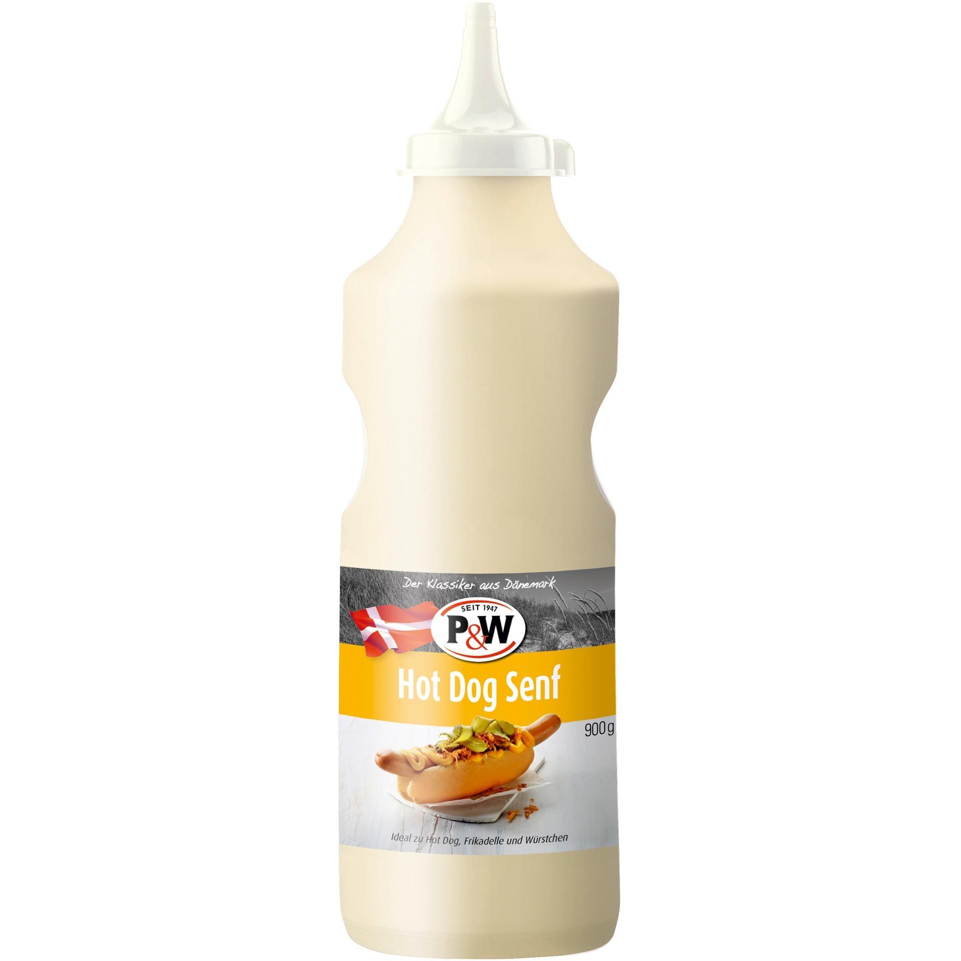 P&W - Hot Dog Senf dänisches Senfdressing Squeezeflasche - 900g