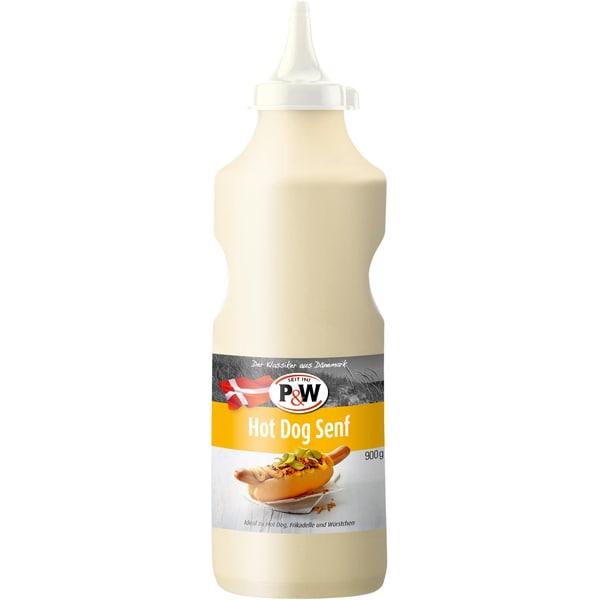P&W Hot Dog Senf dänisches Senfdressing Squeezeflasche 900g