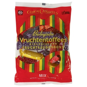 Corn Candies Bio Vruchtentoffees Kaubonbons 100g