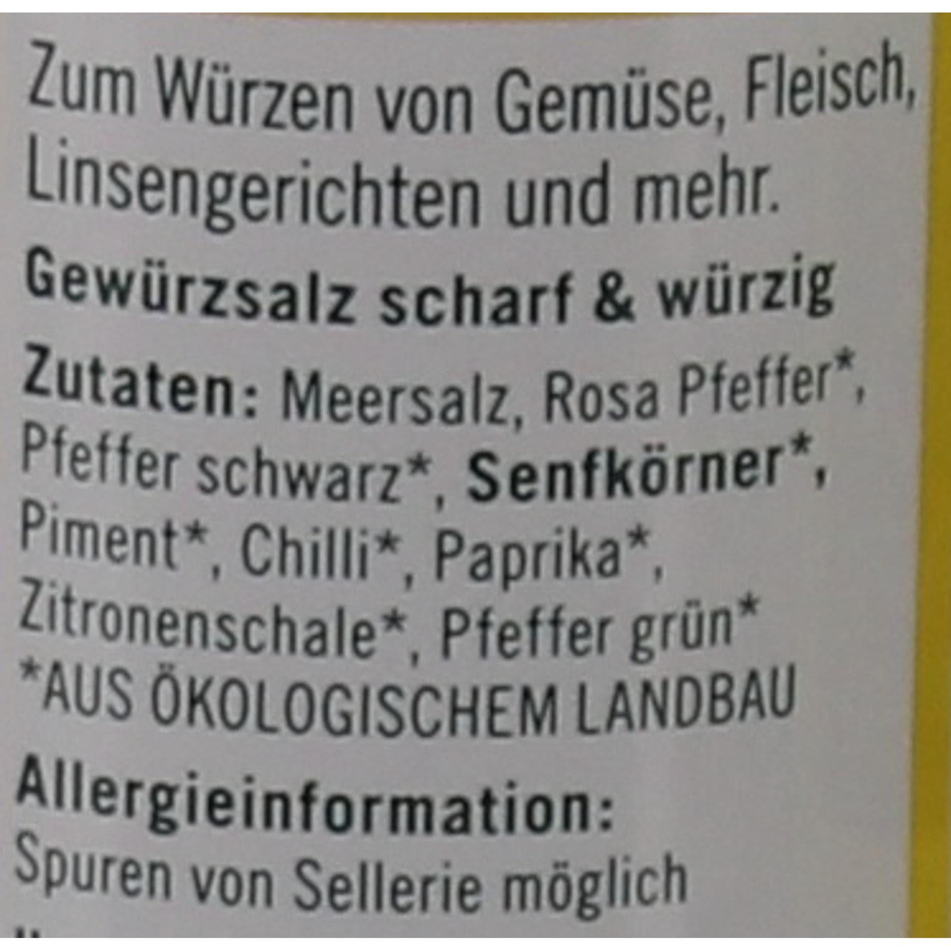 Lebensbaum Bio Gewürzsalz scharf & würzig 55g