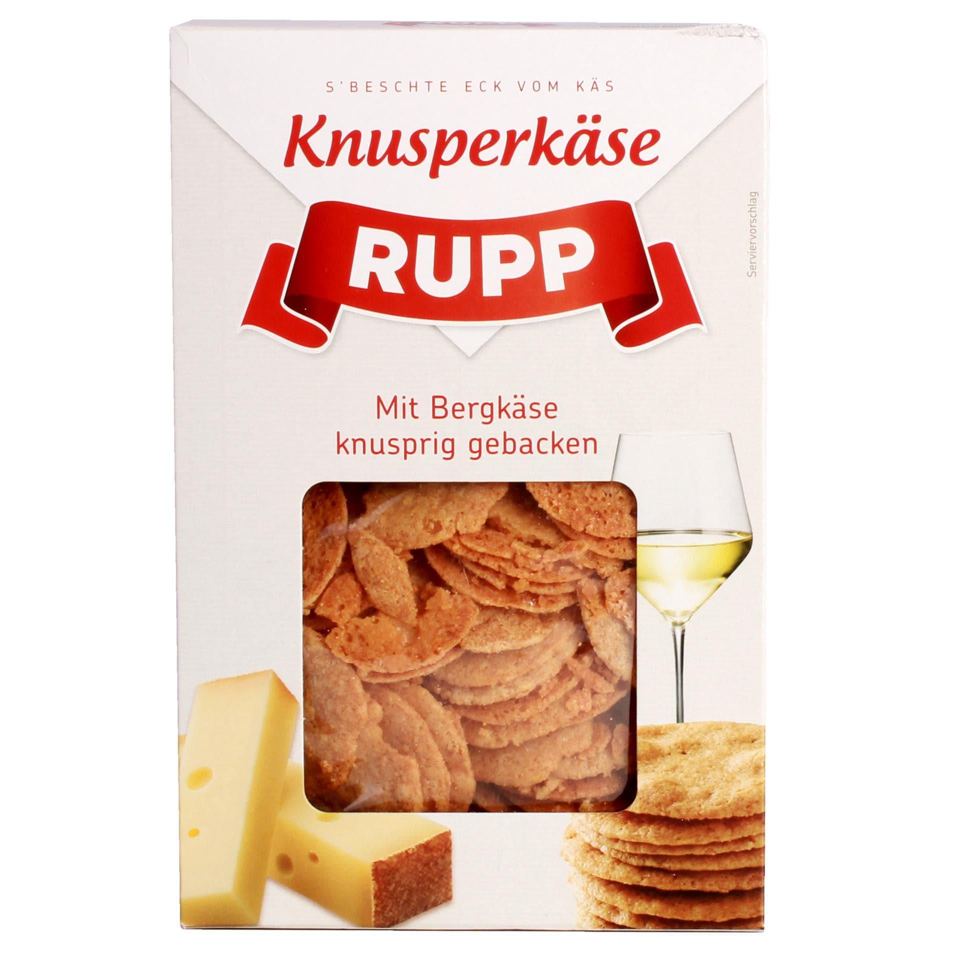 Rupp - Knusper Käse Cracker Österreichischer Bergkäse - 90g