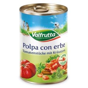 Valfrutta Polpa con erbe Tomatenstücke mit Kräutern 425ml