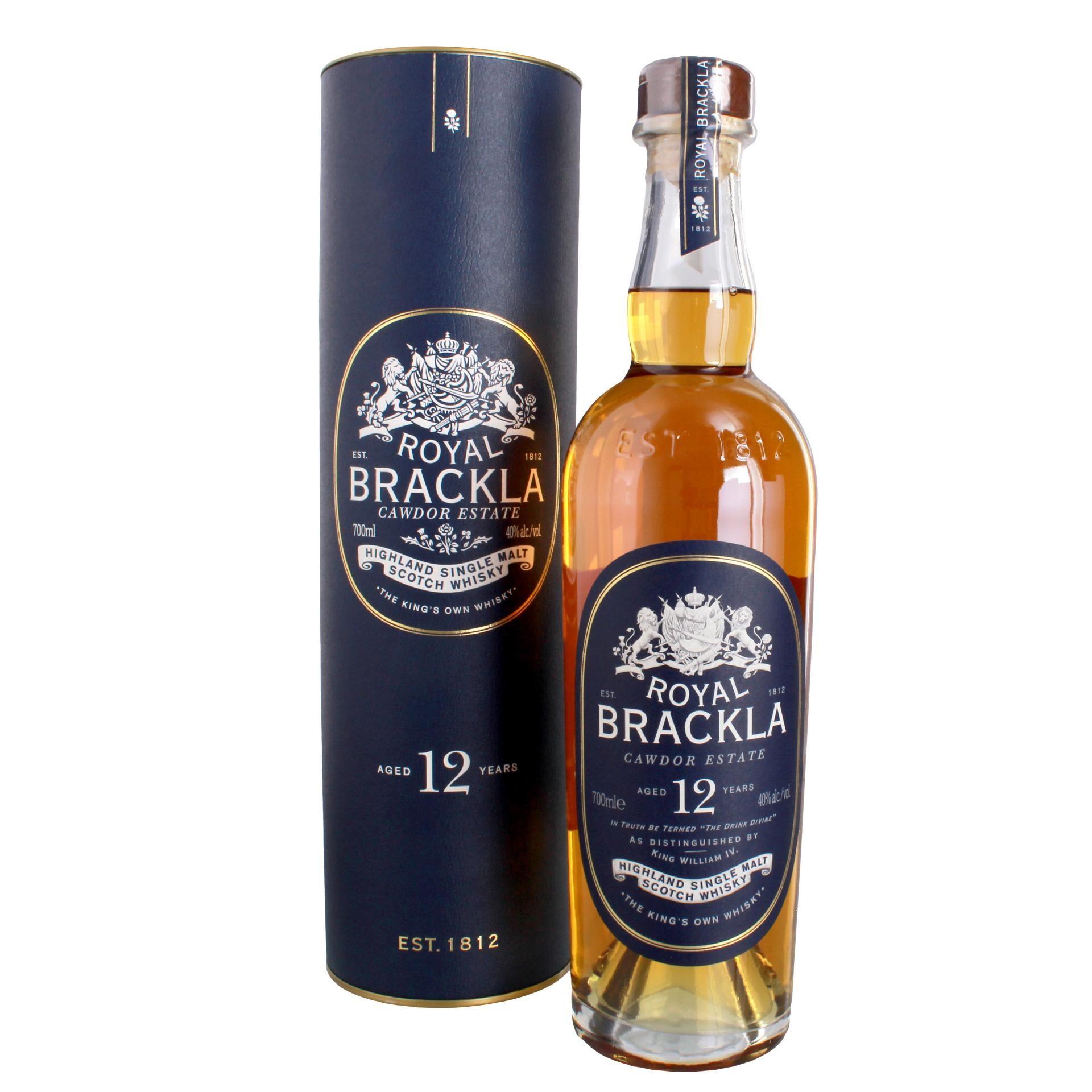 Royal Brackla Highland Single Malt Whisky 12 Jahre 0,7l