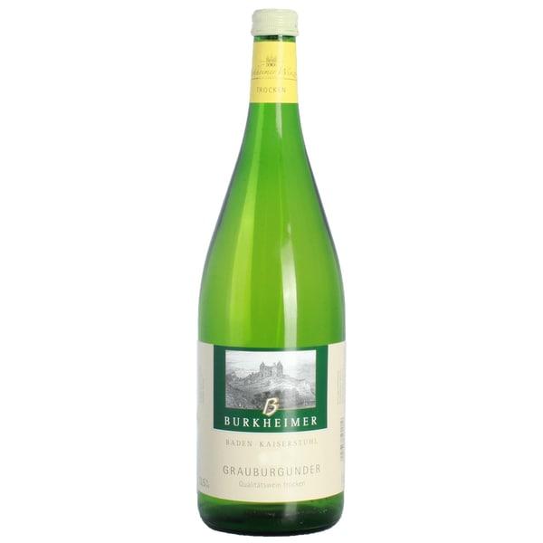 Burkheimer Grauer Burgunder QbA Weißwein trocken 13,5% 1,0l