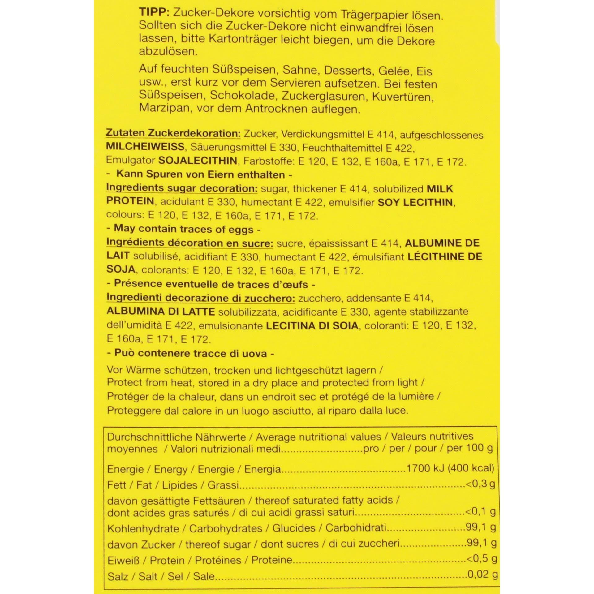 Günthart - Back&Decor Buchstaben/Zahlen Zuckerdekoration - 126St/27g