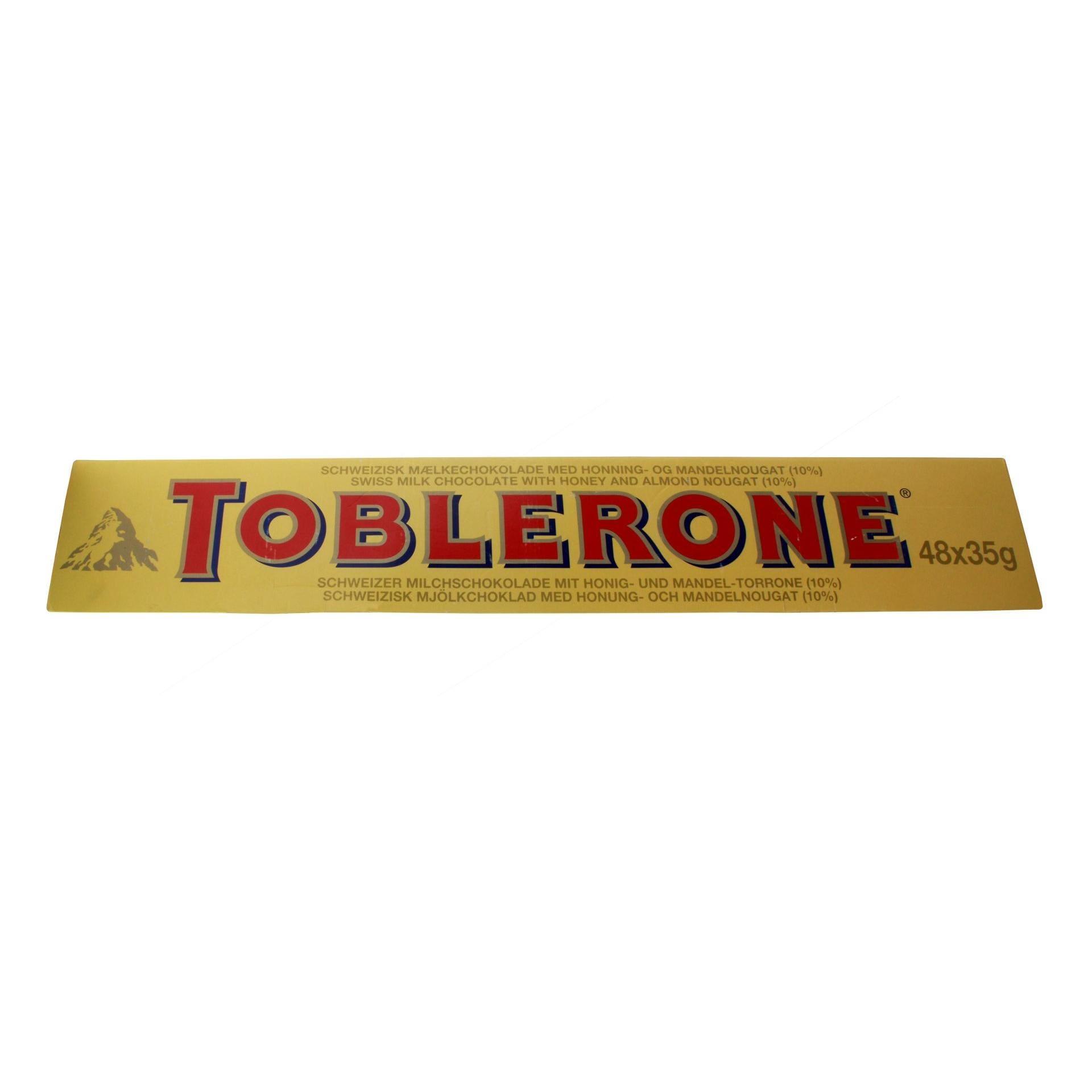 Toblerone - Großpackung Milchschokolade mit Mandel Torrone - 48St/1680g