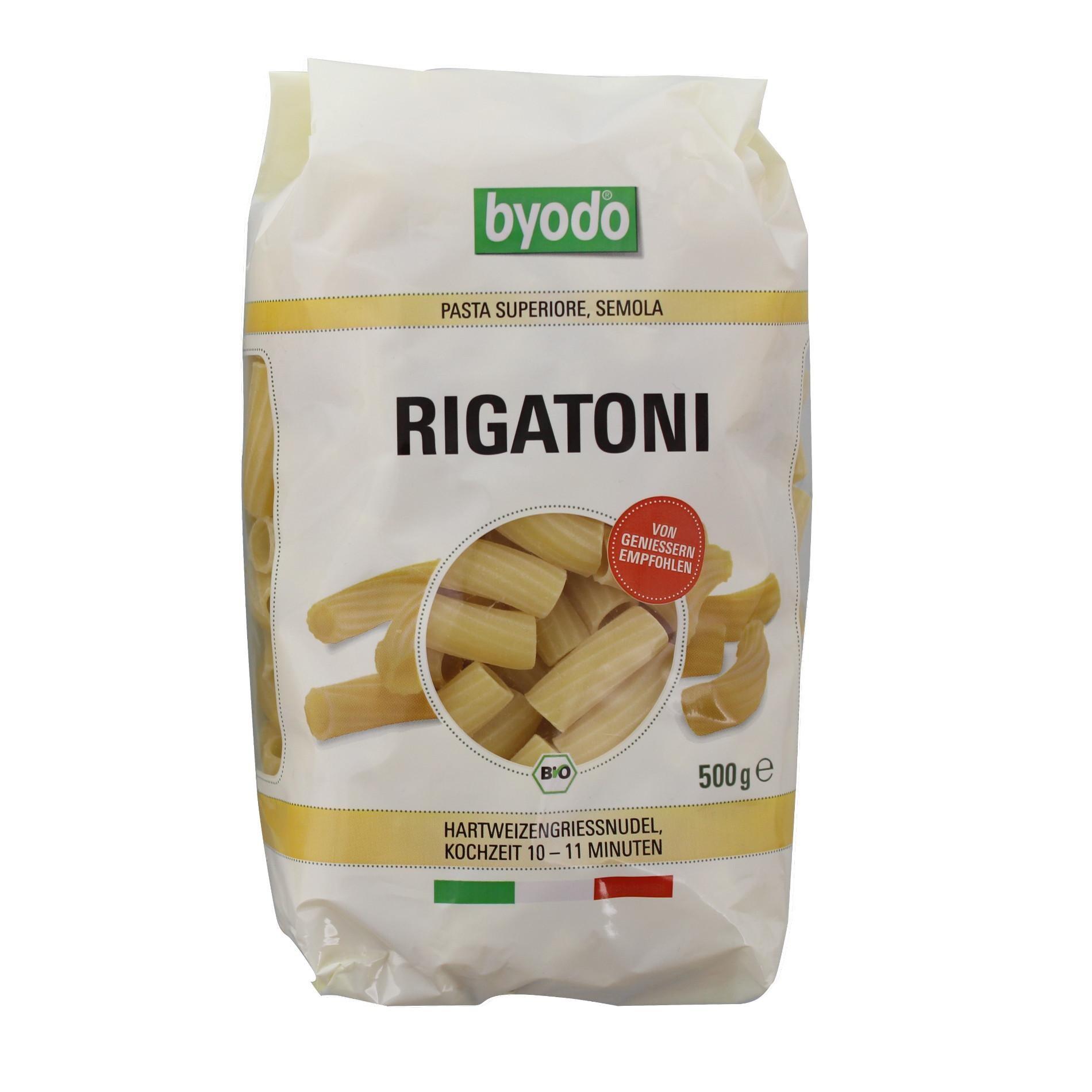 Byodo Bio Pasta Rigatoni 500g