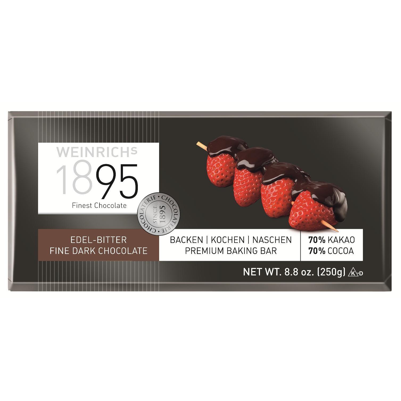 Weinrich's Chocolate - Menage Zartbitter Tafelschokolade - 250g
