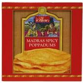 Truly Indian Poppadums Madras gewürzt 112g