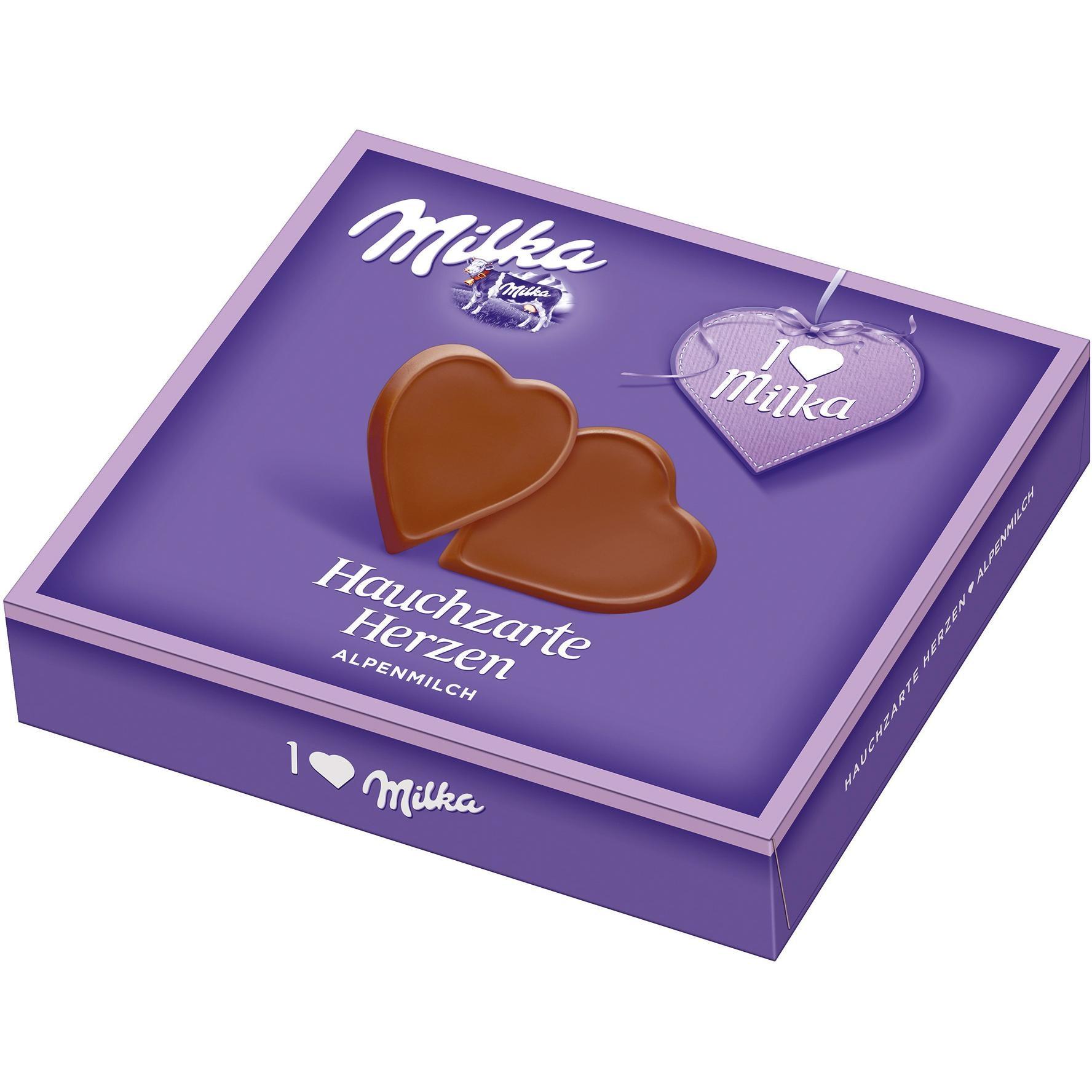 Milka - Hauchzarte Herzen Vollmilch Schokolade - 130g