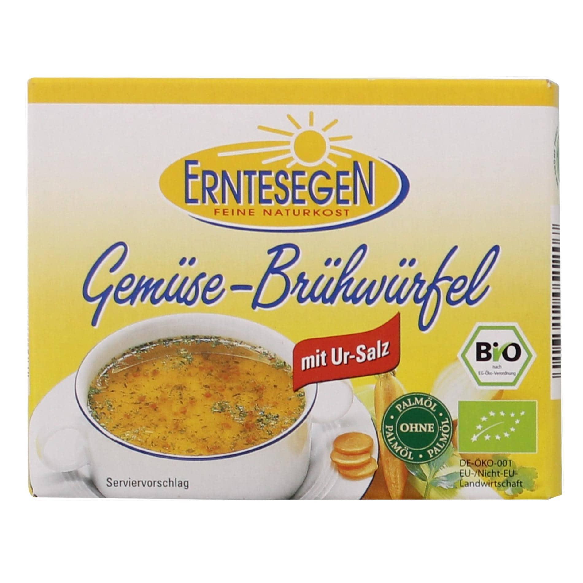 Erntesegen Bio-Gemüse-Brühwürfel 66g
