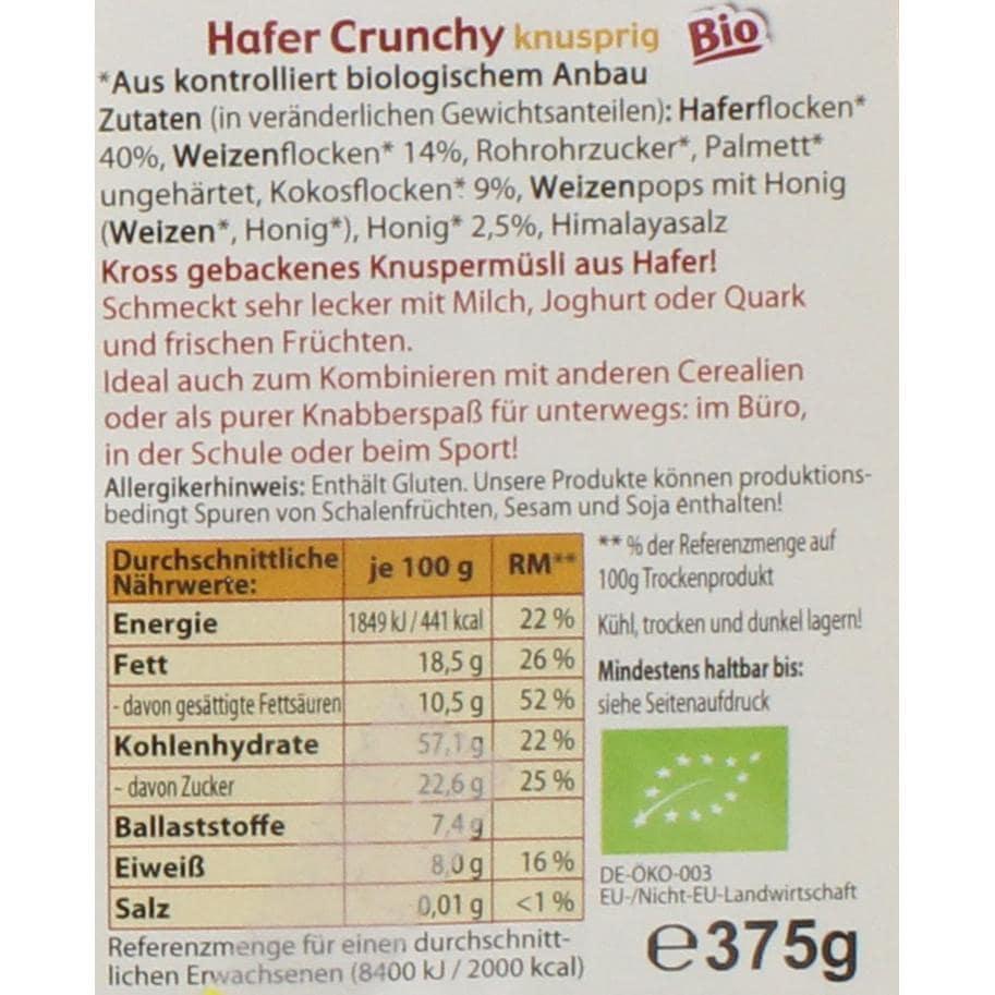 Antersdorfer Mühle Bio Hafer Crunchy Müsli 375g