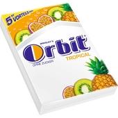 Orbit Tropical ohne Zucker Kaugummi 70g, 5x5 Stück