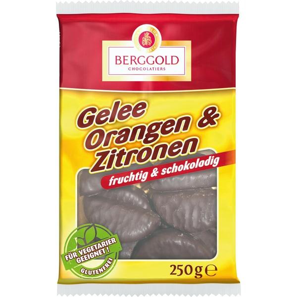 Berggold Gelee Orangen & Zitronen Schokolade 250g