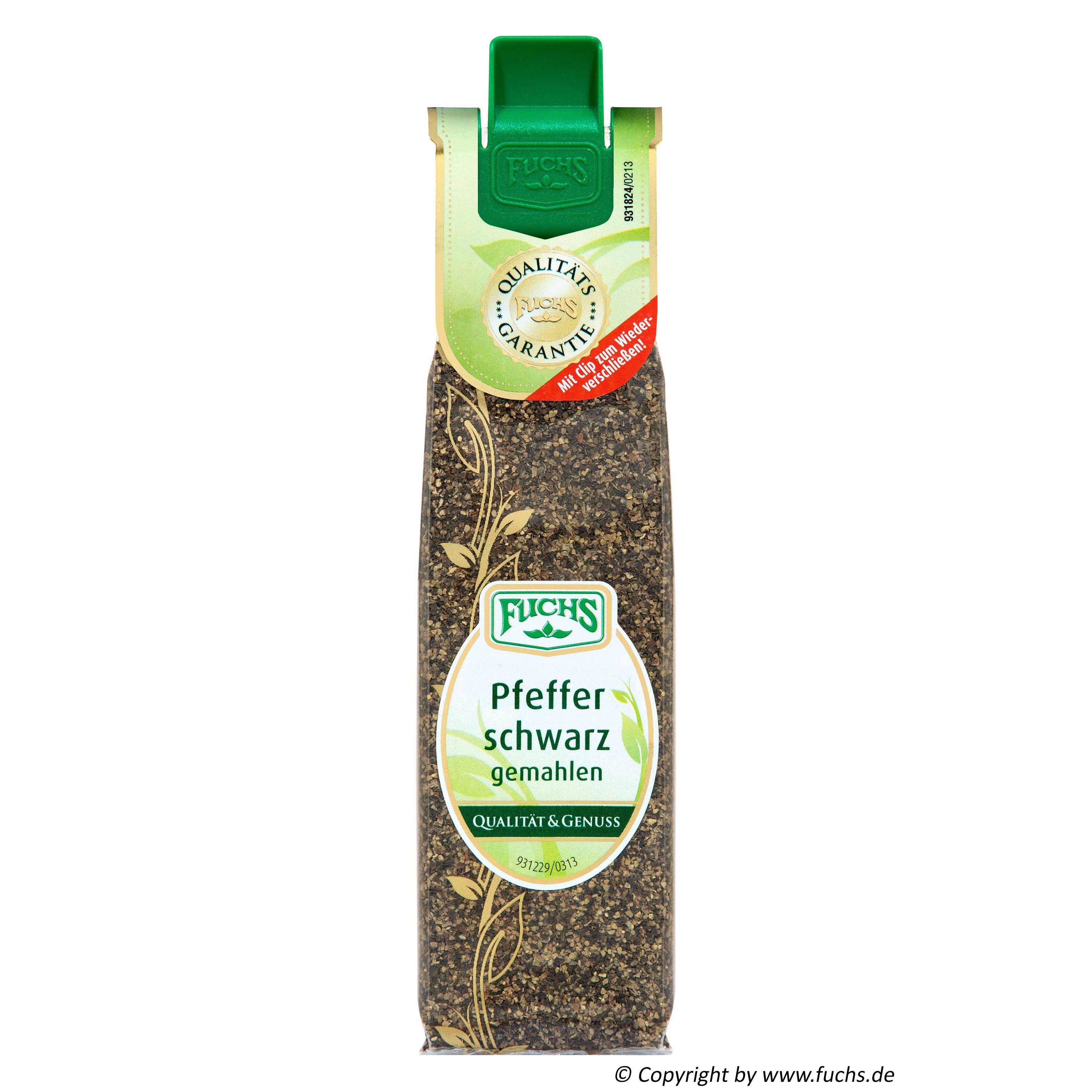 Fuchs - Pfeffer schwarz gemahlen - 29g
