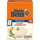 Uncle Bens Spitzen Langkorn Reis acht Kochbeutel 1kg