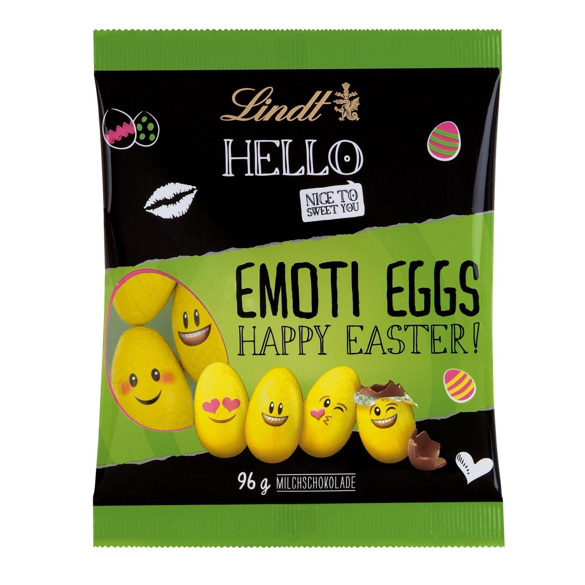 Lindt Hello Emoti Eggs Schokolade 96g