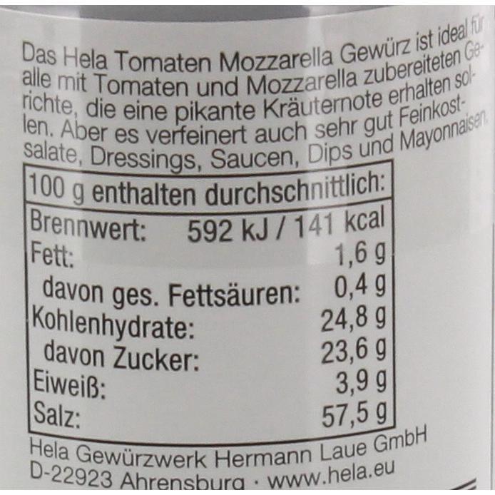 Hela - Tomate Mozarella Gewürz Gewürzsalz - 50g