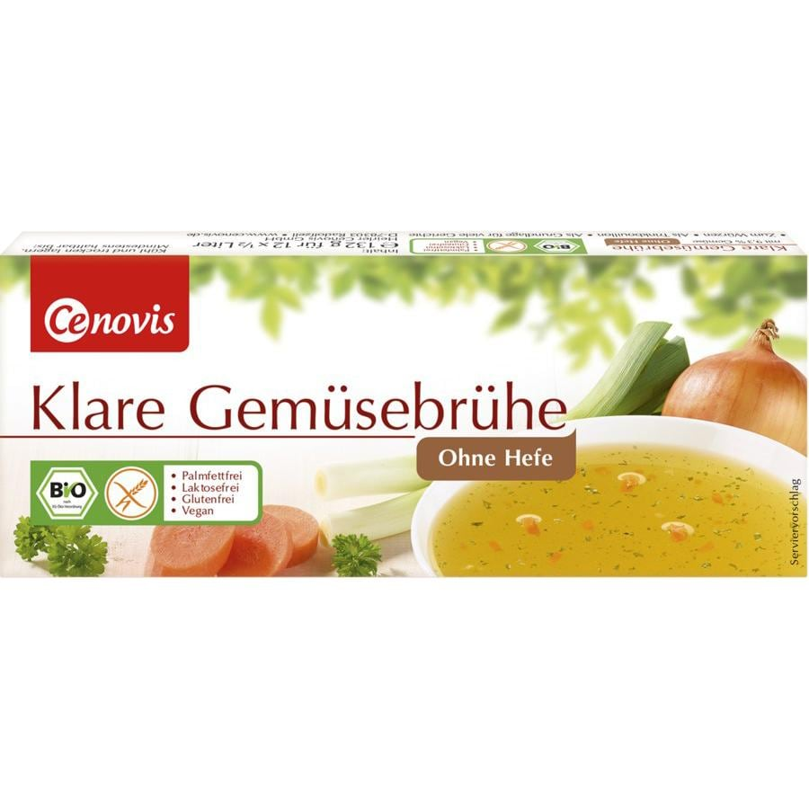 Cenovis Klare Gemüsebrühe ohne Hefe Bio 12St/132g