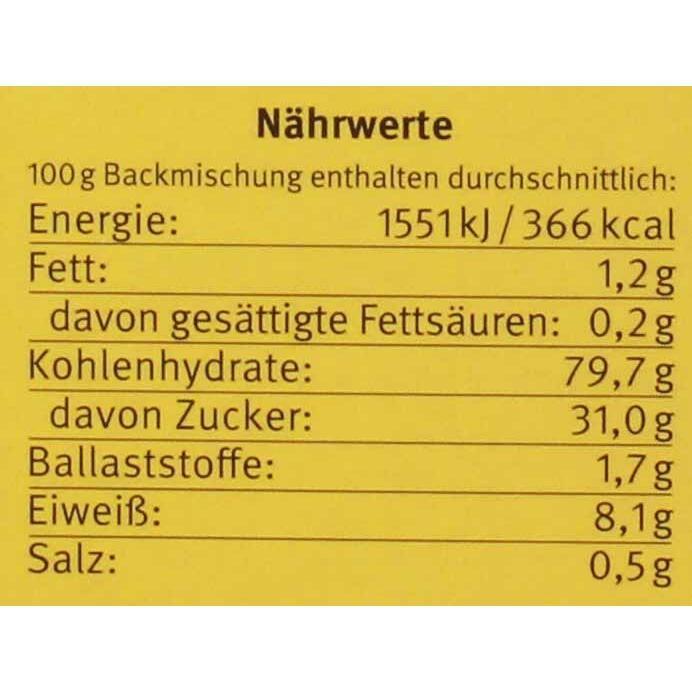 Bauck Hof Bio Dinkel Apfelkuchen Backmischung 440g