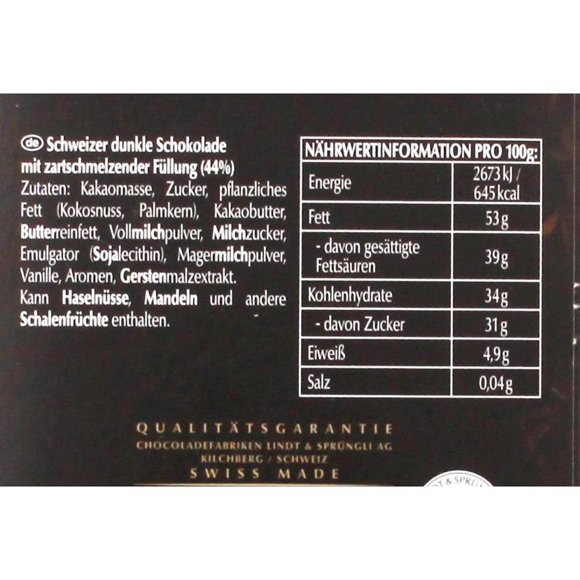 Lindt - Lindor Extra Dunkel einzelne Stückchen Schokolade Pralinen - 18St/100g