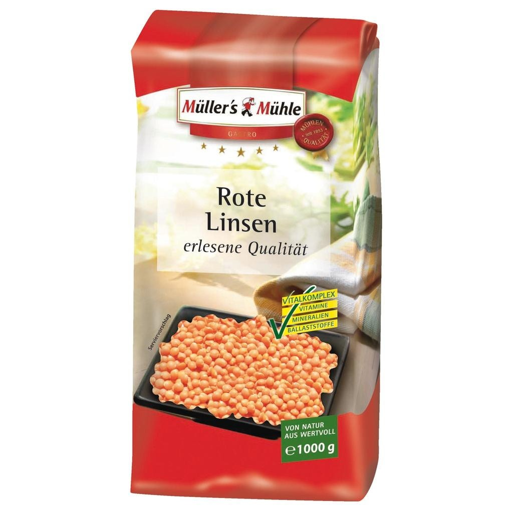 Müller's Mühle - Rote Linsen - 1000g