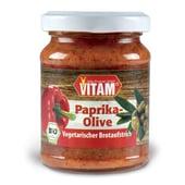 Vitam Bio Paprika-Olive Veganer Brotaufstrich 110g