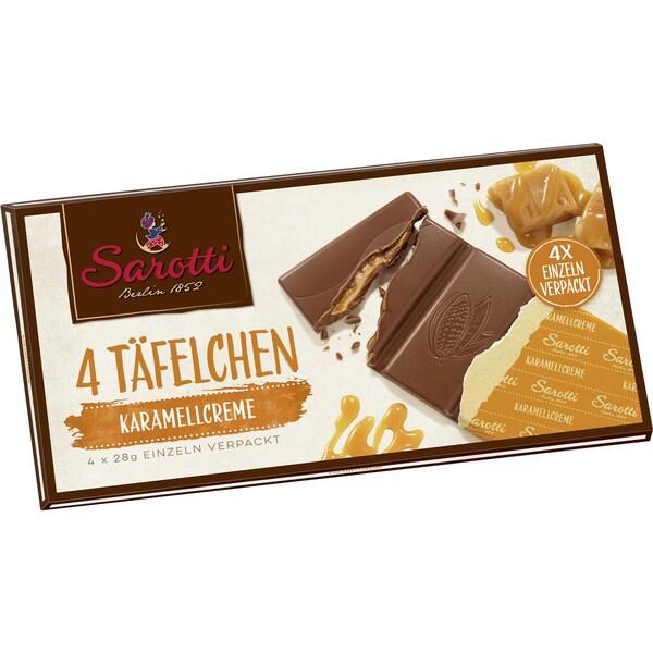 Sarotti - Vollmilch Karamell - Schokolade - 4x28g