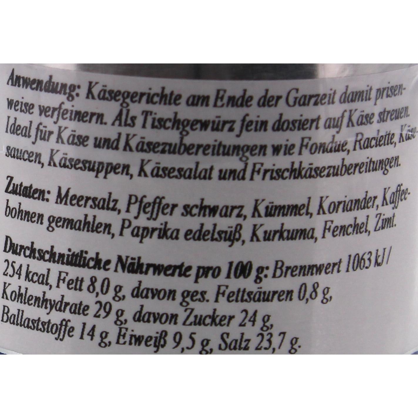 Schuhbecks - Käse und Raclette Gewürzzubereitung - 55g