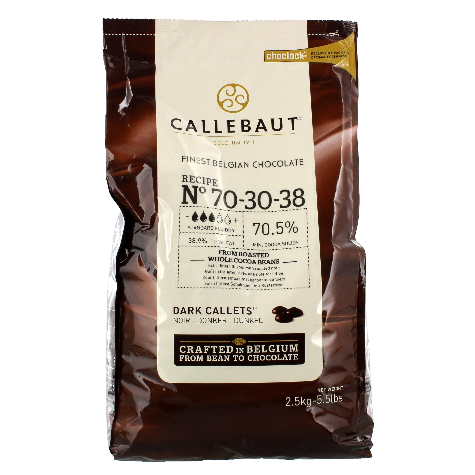 Callebaut - Dunkle Kuvertüre Callets Schokodrops - 2,5kg