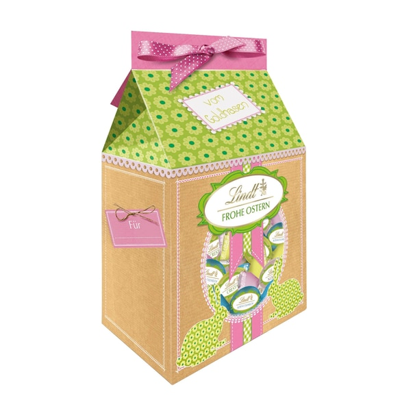 Lindt Frohe Ostern Geschenkbox Schokoladen-Eier 200g