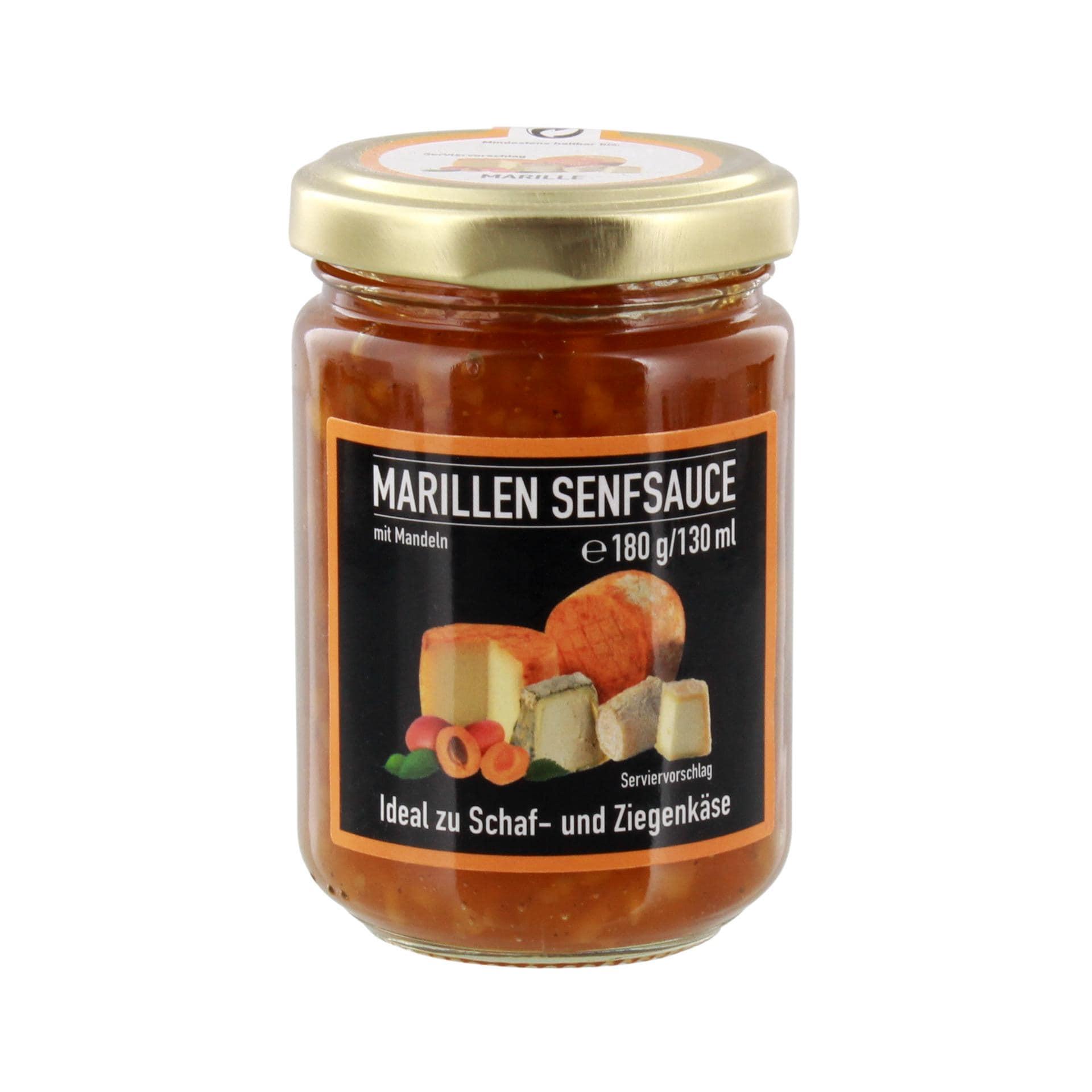 Marillen - Senfsauce mit Mandeln - 180g