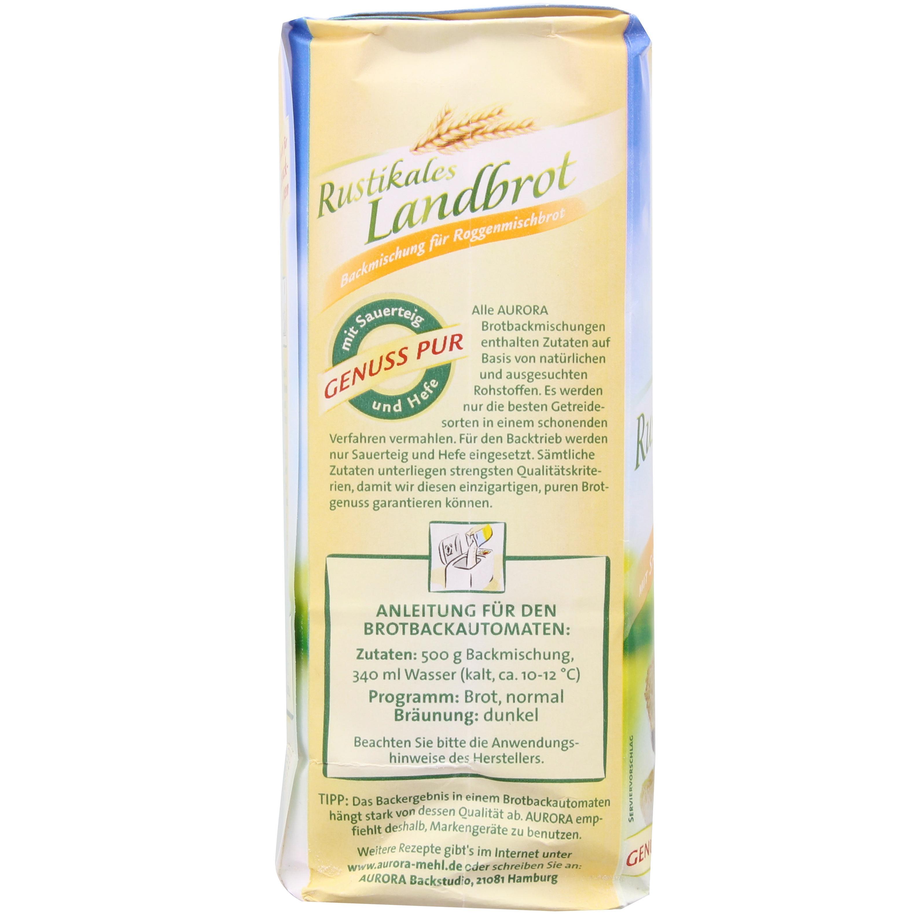Aurora - Rustikales Landbrot Brotbackmischung - 500g
