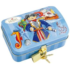 Heidel Piraten Schatztruhe Schokoladentafeln und -kugeln 11St/118g