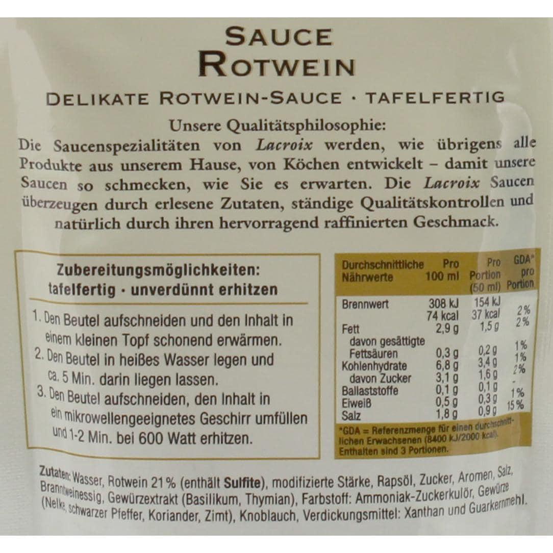 Lacroix - Fleischsauce aus Rotwein - 150ml